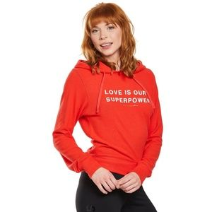 ONLY 1!NWOT SG LOVE IS OUR SUPERPOWER HACCI HOOD S